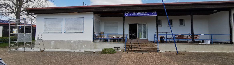 Startschuss der Sanierungsarbeiten des Sportheims